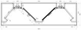 Eiland Inductiekap - Doosmodel - 3250 mm breed_