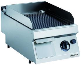 Gas bakplaat geribd - 700 pro kooklijn