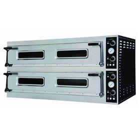 Elektrische pizza oven 2 x 6 pizza's Ø40 cm