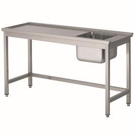 Aanvoertafel met open onderschap - 1700 mm - tafel links van de machine