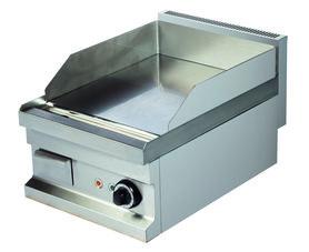 Gas bakplaat verchroomd glad - 600 kooklijn