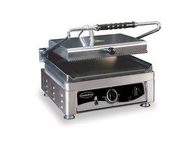 Contact grill - 410 mm breed - vlak en geribbeld oppervlak