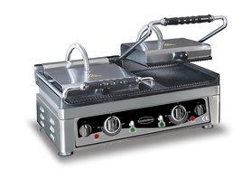 Contact grill - 560 mm breed - geribbeld oppervlak