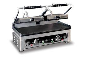 Contact grill - 560 mm breed - glad en geribbeld oppervlak