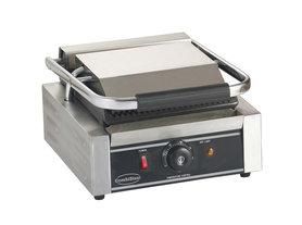 Contact grill - 320 mm breed - geribbeld oppervlak