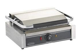Contact grill - 440 mm breed - geribbeld oppervlak