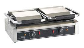 Contact grill - 580 mm breed - geribbeld oppervlak