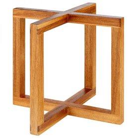 """Buffetstandaard """"Wood"""", 20x20xH17,5 cm, licht hout"""