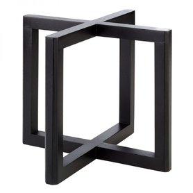 """Buffetstandaard """"Wood"""", 20x20xH17,5 cm, donker hout"""