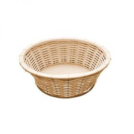 "Brood- en/of fruitmand ""Wicker-look"", Ø20xH6,5 cm, beige"