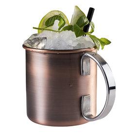 Cocktail beker 'Moscow' - mat koper