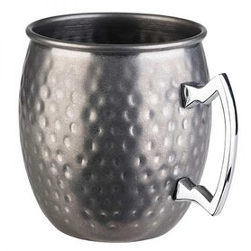 Cocktail beker 'Moscow' - hammered RVS