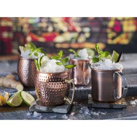 Cocktail beker 'Moscow' - koper hammered
