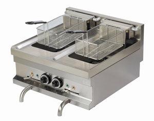 Friteuse - 2 pans -2x8 ltr - elektrisch