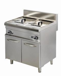 Friteuse gas 2 pans 2x 10 liter