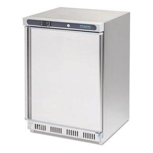 Polar tafelmodel koelkast RVS 150 liter