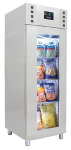 RVS glasdeur koelkast - 700 liter - monoblock