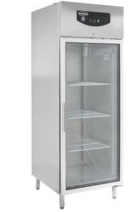 RVS koelkast met glasdeur