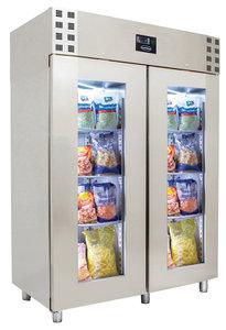 RVS glasdeur koelkast - 1400 liter - monoblock