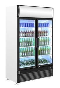 koelkast met 2 glasdeuren - 750 liter