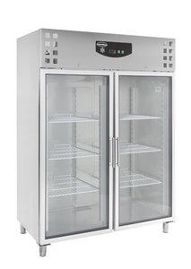RVS koelkast met glasdeuren