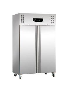 RVS en aluminium koelkast met wielen