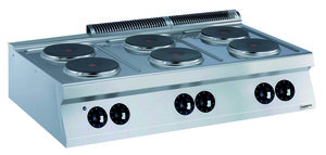 Elektrische kookunit 6 pitten - 700 pro kooklijn