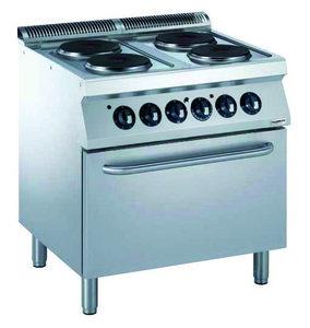 Elektrisch fornuis met elektrische oven