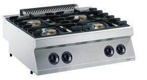 Gas kooktafel 4 branders - 700 pro kooklijn