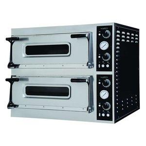 Elektrische pizza oven 2 x 4 pizza's Ø40 cm