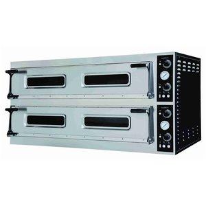 Elektrische pizza oven 2 x 9 pizza's Ø35 cm