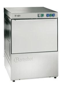 Bartscher glazenspoelmachine Deltamat TF 401 met afvoerpomp en waterontharder