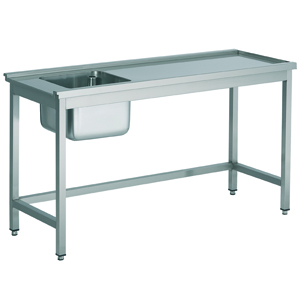 Aanvoertafel met open onderschap - 1200 mm - tafel rechts van de machine