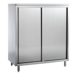 RVS voorraadkast 4 levels - 2000 mm breed