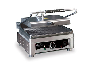 Contact grill - 410 mm breed - geribbeld oppervlak