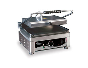 Contact grill - 410 mm breed - glad oppervlak