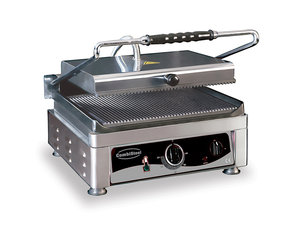 Contact grill - 510 mm breed - geribbeld oppervlak