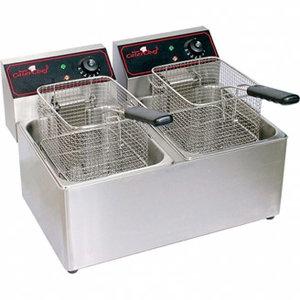 Friteuse 8+8 liter elektrisch tafelmodel