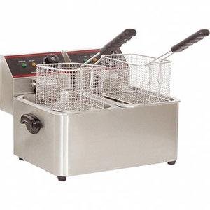 Caterchef elektrische friteuse - 2 x 5 liter