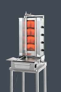 Gyros grill - Gas motor onder - 4 hitte zones