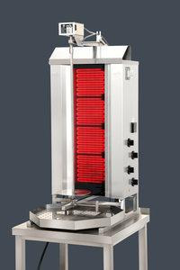 Gyros grill - Elektrische motor boven - 4 hitte zones