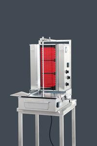 Gyros grill - elektrisch motor onder - 3 hitte zones