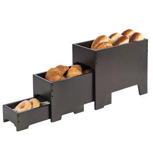 Buffetstandaard, 3-delig, wenge, 40x20xH33 cm