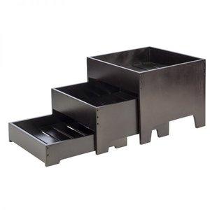 Buffetstandaard, 3-delig, wenge, 40x40xH33 cm