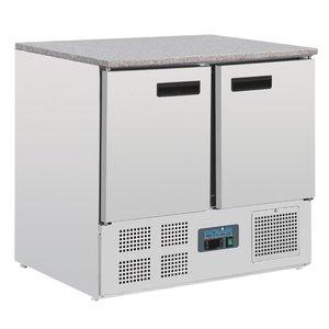 Polar gekoelde werkbank met marmeren werkblad 240 liter