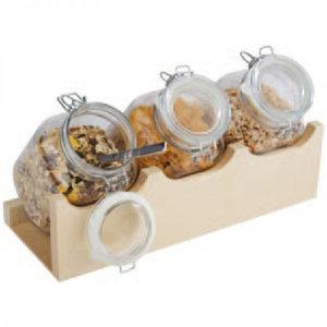 Buffetstandaard 'Goodmorning' - 4 delige set wenge