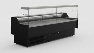 Koeltoonbank zwart  - 2490 x 815 mm
