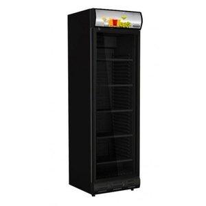 Glasdeur koelkast zwart - 328 liter