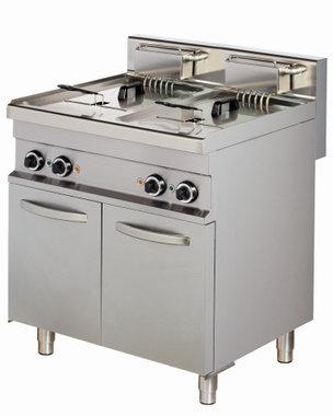 Friteuse elektrisch 2 pans 2x 10 liter
