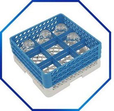 Bekerglazenkorf 9 compartimenten